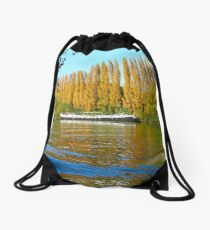 Autumn Colours at Auvers Drawstring Bag