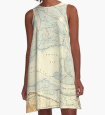 USGS TOPO Map California CA Honker Bay 296168 1918 31680 geo A-Line Dress