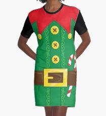 Xmas Elf Belly Graphic T-Shirt Dress