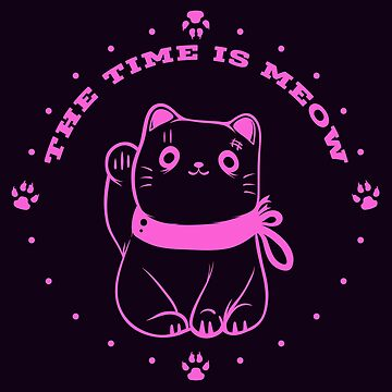 The Time Is Meow by bitsnbobs