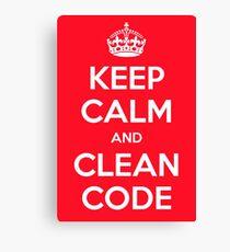 Keep calm and clean code Canvas Print