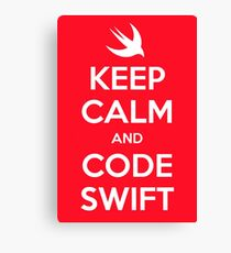 Keep calm and code swift Canvas Print