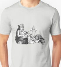 Remus, a Cup of Tea, and a Black Dog Unisex T-Shirt