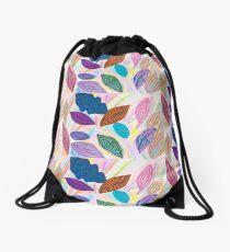 Leaves 2 - Heather  Drawstring Bag