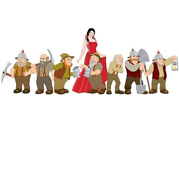 Snow White and the Seven Dwarfs by davecharlton