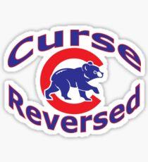Cubs Curse shirt 2.0 Sticker