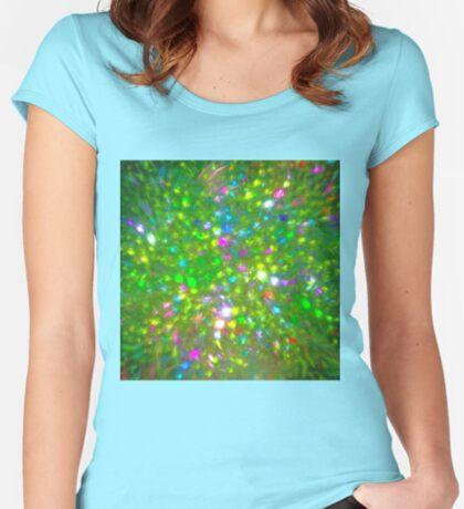 Summer #fractal art Women's Fitted Scoop T-Shirt