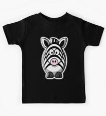 Zebra, Cartoon, Cute, Horse Kids Clothes