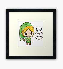 Chibi Link - The legend of Zelda Framed Print