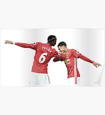 Pogba Lingard - Manchester United - Dab Poster