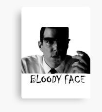 Bloody Face Canvas Print
