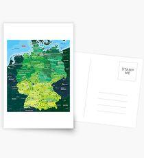 Karte Deutschland Postkarten