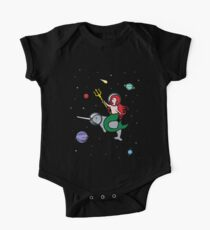 Mermaid Riding Narwhal In Space Kids Clothes