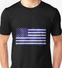 American Fleur-De-Lis Flag Grunge Effect T-Shirt