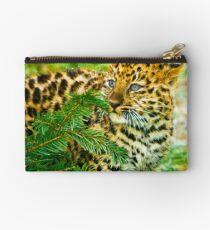 Amur Leopard Cub Studio Pouch