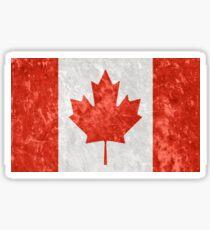 Effet Grunge drapeau canadien Sticker