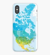 Map of the USA and Canada iPhone Case/Skin