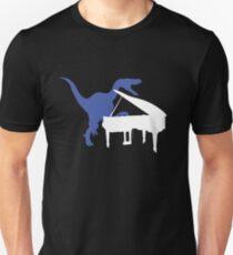 Velociraptor spielt Klavier Slim Fit T-Shirt