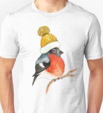 Christmas bird Bullfinch Unisex T-Shirt