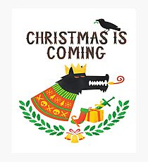 Game of Thrones Christmas, Juego de Tronos Navidad Photographic Print
