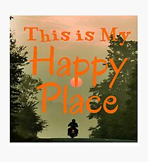 MOTORCYCLE - MY HAPPY PLACE Photographic Print