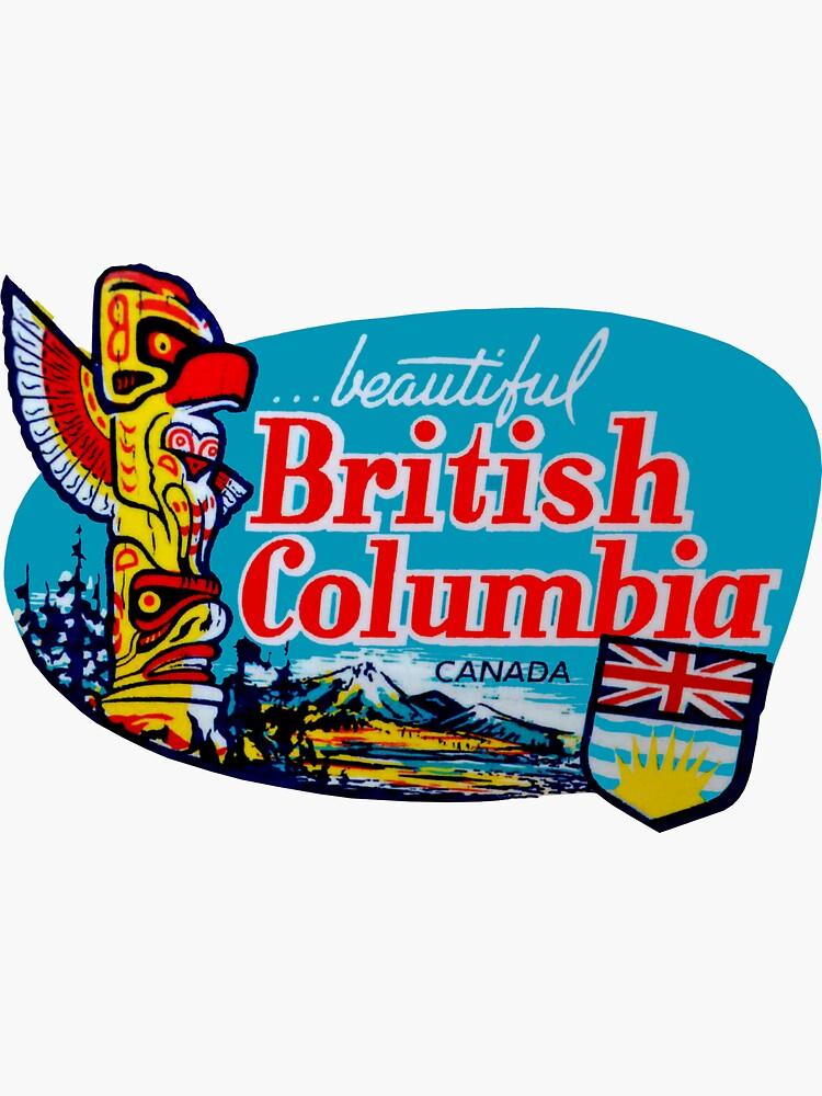 Hermosa British Columbia BC Vintage Travel Decal de hilda74