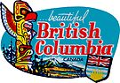 Beautiful British Columbia BC Vintage Travel Decal by hilda74