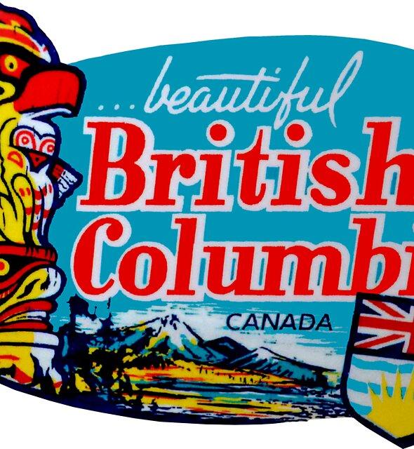 Schöner Britisch-Columbia BC Weinlese-Reise-Abziehbild von hilda74