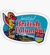 Schöner Britisch-Columbia BC Weinlese-Reise-Abziehbild Sticker