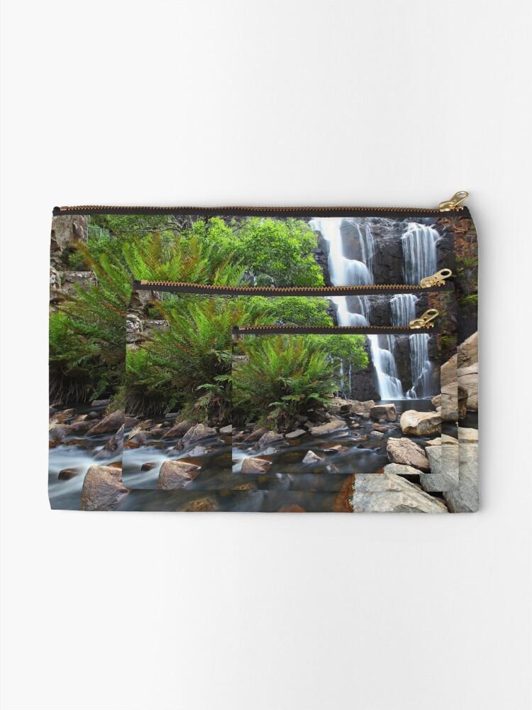 Alternate view of Mc Kenzie Falls, Grampians, Australia Zipper Pouch