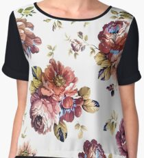 Cute Modern Spring Flower Pattern Girly Floral  Women's Chiffon Top