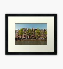 Canal and Canal Houses Framed Print
