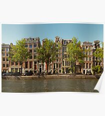 Canal and Canal Houses Poster
