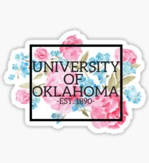 University of Oklahoma Watercolor Roses Sticker