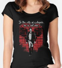 In the city of Angels... Women's Fitted Scoop T-Shirt