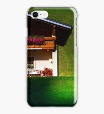 Guesthouse in calm place, mountains and nature, Austria, tourism concept iPhone Case/Skin