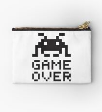 Game over / Pixel art invader Studio Pouch
