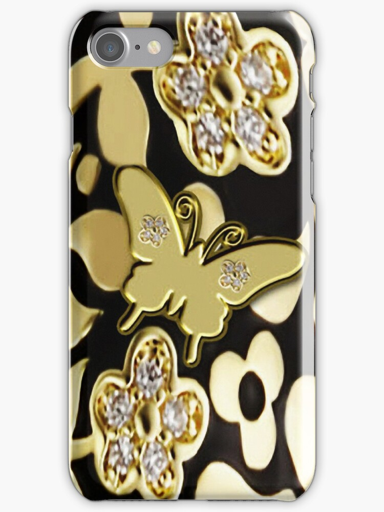 Ƹ̴Ӂ̴ƷGOLDEN BUTTERFLY IPHONE CASE A TOUCH OF ELEGANCE Ƹ̴Ӂ̴Ʒ by ✿✿ Bonita ✿✿ ђєℓℓσ