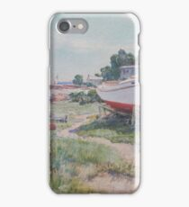Boatyard, Marion, Massachusetts by Howard Russell Butler iPhone Case/Skin