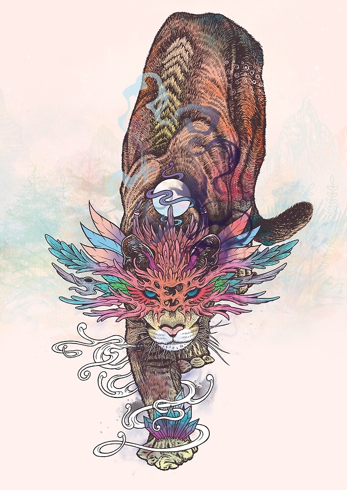 Journeying Spirit (Mountain Lion) by MatMiller