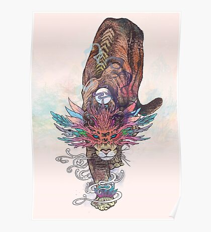 Journeying Spirit (Mountain Lion) Poster