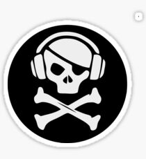 DJ Pirate. Music skull Sticker