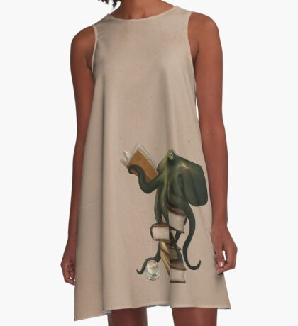 Well-Read Octopus A-Line Dress
