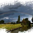 Rainbow over Napton Turn  by bywhacky