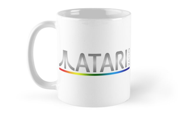 Atari 2600 Multi-colour Logo Mug