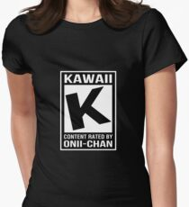 Rated K for Kawaii Womens Fitted T-Shirt