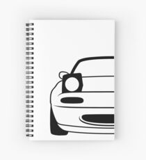 Simple miata Spiral Notebook