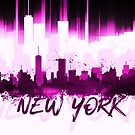 Graphic Art NYC Skyline II | pink by Melanie Viola