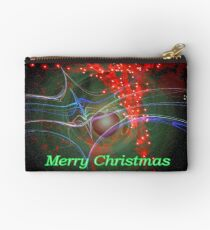 Red tree lights Studio Pouch