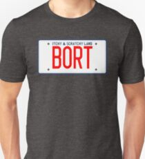Bort License Plate – Itchy & Scratchy Land Unisex T-Shirt
